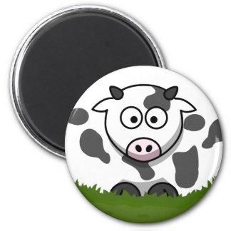 Round Cow Magnet