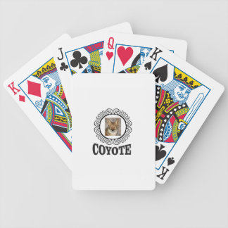 round coyote bicycle playing cards