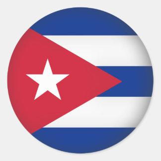 Round Cuba Classic Round Sticker
