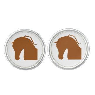 Round Cufflinks W Series Brown Edition
