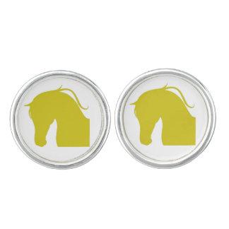 Round Cufflinks W Series Gold Edition