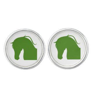 Round Cufflinks W Series Green Edition