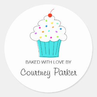 Round Cupcake Labels, From the Kitchen Of... Round Sticker