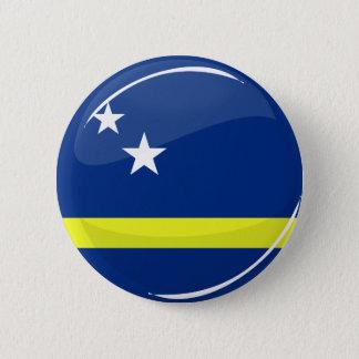 Round Curacao flag 2 Inch Round Button