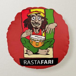 Round cushion Rastafari