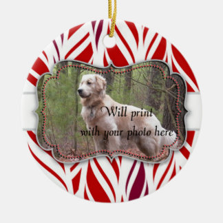 Round Custom Pet Memorial Ceramic Ornament