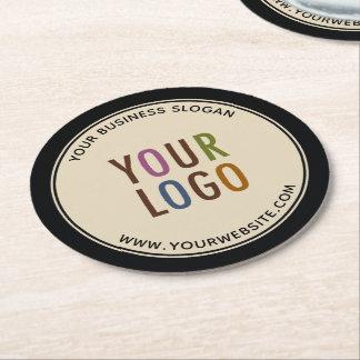 Round Custom Pulpboard Paper Coasters Company Logo