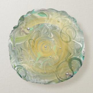 round dekokissen with green sample round pillow