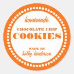 Round Dot Chocolate Chip Cookie Label Template Round Sticker