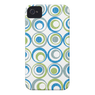 Round Elements Pattern iPhone 4 Case-Mate Case