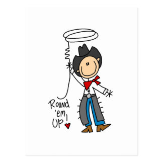 Round Em Up Cowboy Tshirts and Gifts Postcard