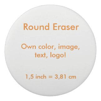 Round Eraser uni White ~ Own Color