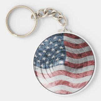 Round Flag Keychain