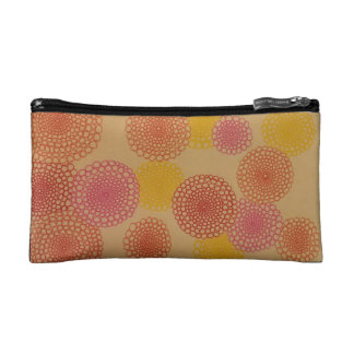 Round Floral Cosmetic Bag
