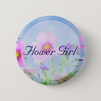Round Flower Girl Floral Wedding Buttons