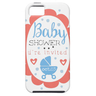 Round Frame Baby Shower Invitation Design Template Case For The iPhone 5
