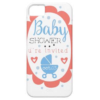 Round Frame Baby Shower Invitation Design Template iPhone 5 Case