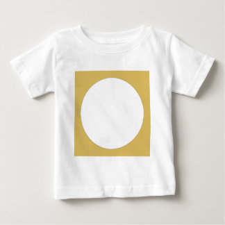 Round frame tan with white center baby T-Shirt
