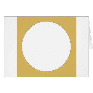 Round frame tan with white center card