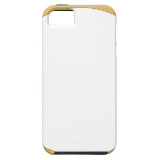 Round frame tan with white center case for the iPhone 5
