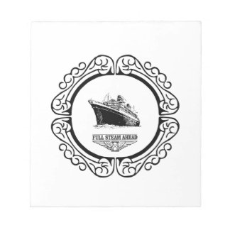 round full steam ahead notepads