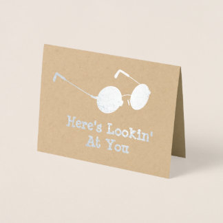Round Glasses - Here's Looking at You Specs Foil Card