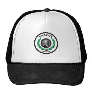 round gravity in trucker hat