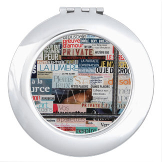"Round handbag mirror series ""Wild "" Vanity Mirror"