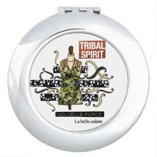 "Round handbag mirror ""Tribal Spirit "" Mirrors For Makeup"