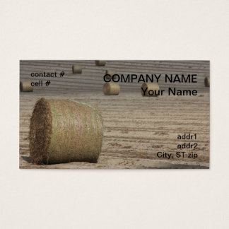 round hay bale business card