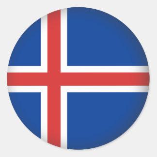 Round Iceland Round Sticker