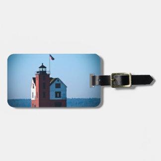 Round Island Lighthouse Luggage Tag