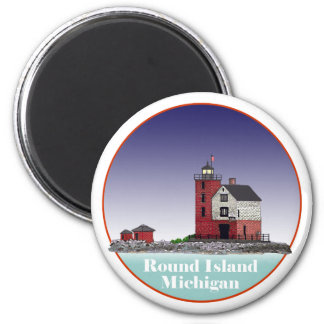 Round Island Lighthouse Magnet