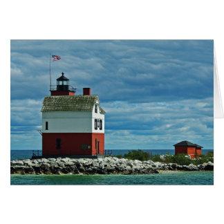 Round Island Lighthouse Photo Greeting Card