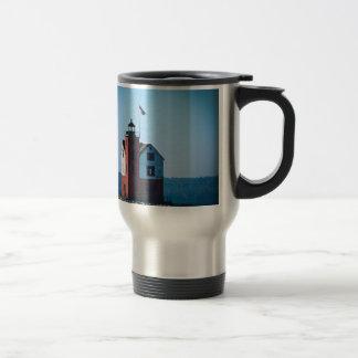 Round Island Lighthouse Travel Mug