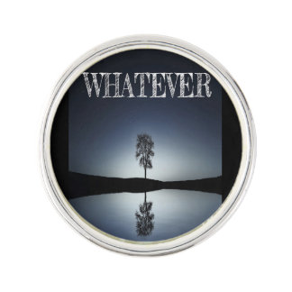 Round Lapel Pin, Silver Plated/whatever Lapel Pin
