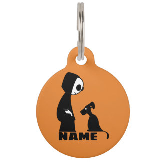 Round Large Pet Tag