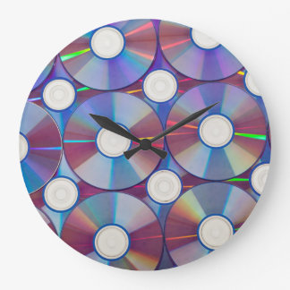 Round Large Wall Clock - Music CD