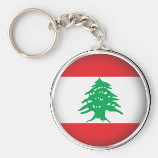 Round Lebanon Basic Round Button Keychain