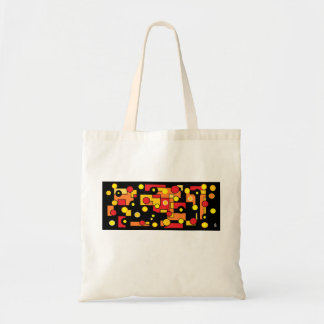 round lights tote bag