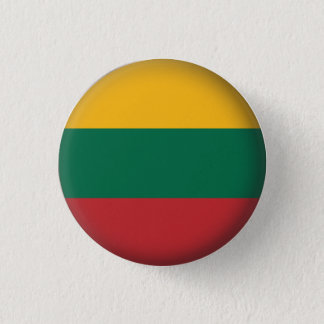 Round Lithuania 1 Inch Round Button