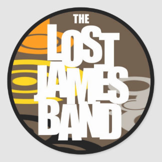 Round Lost James Band Sticker