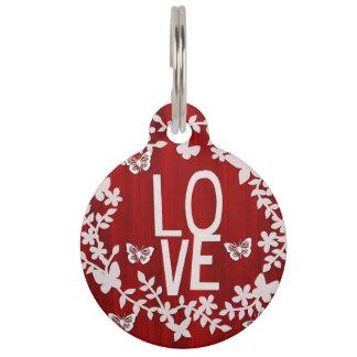 Round love pet tag