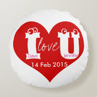 round love pillow for valentine