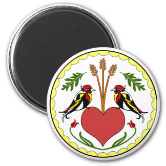 Round Magnet - Long, Happy Relationship Hex