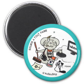 "Round Magnet ""Mouse with to do everything """
