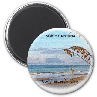 "Round magnet  ""TOPSAIL ISLAND"""