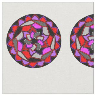 Round Mandala on White Fabric