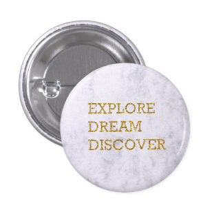 Round Marble Quote Badge 1 Inch Round Button