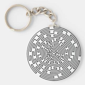 Round Maze Keychain